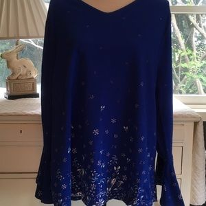 Royal blue and white top. NWT